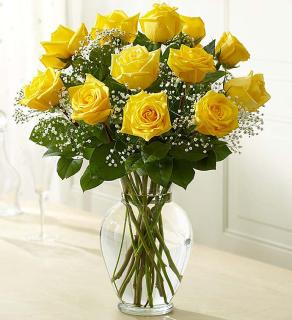 Rose Eleganceâ?¢ Premium Long Stem Yellow Roses