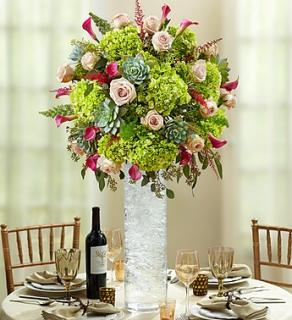 Vineyard Wedding Luxury Centerpiece