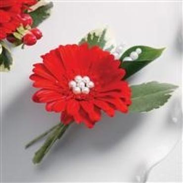 Red Gerbera Boutonniere