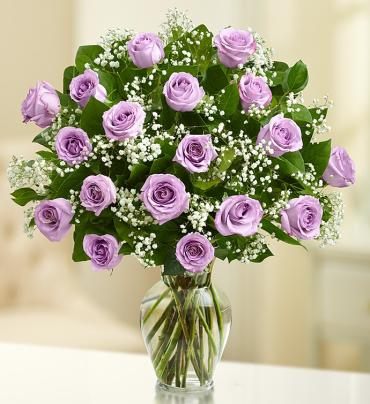 Rose Eleganceâ?¢ Premium Long Stem Purple Roses