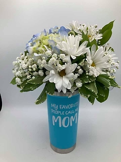 Mom\'s favorite Daisy Travel Tumbler  Bouquet